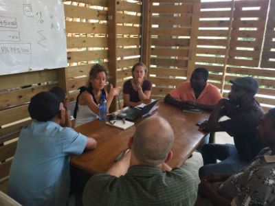 Collaborative session and training with Haitian leadership